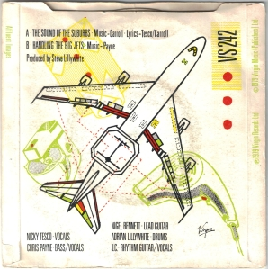 """The Sound of the Suburbs/Handling the Big Jets (Virgin Records 7"""" single, 1979)"""